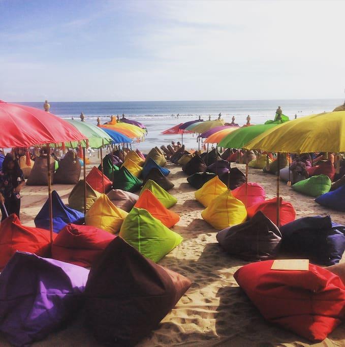 Famouse beach cafe close to villa