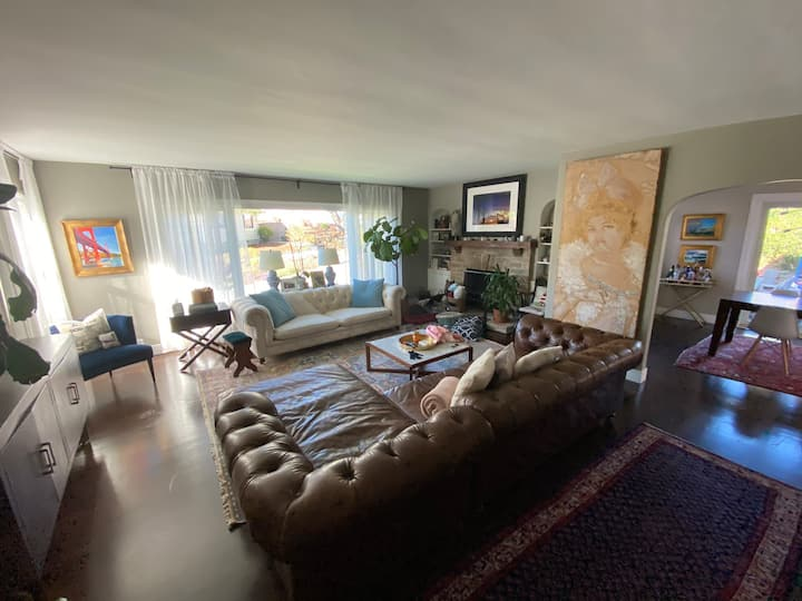 2400ft Family Home Marin, Open to Home Exchange