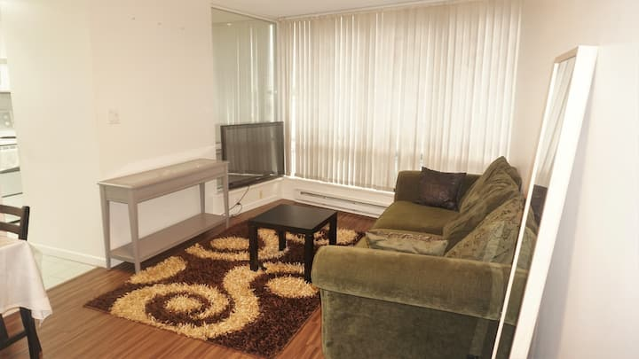 Central sophisticated Modern Condo Sleeps4+Parking
