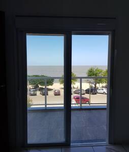 Bela vista em frente à praia