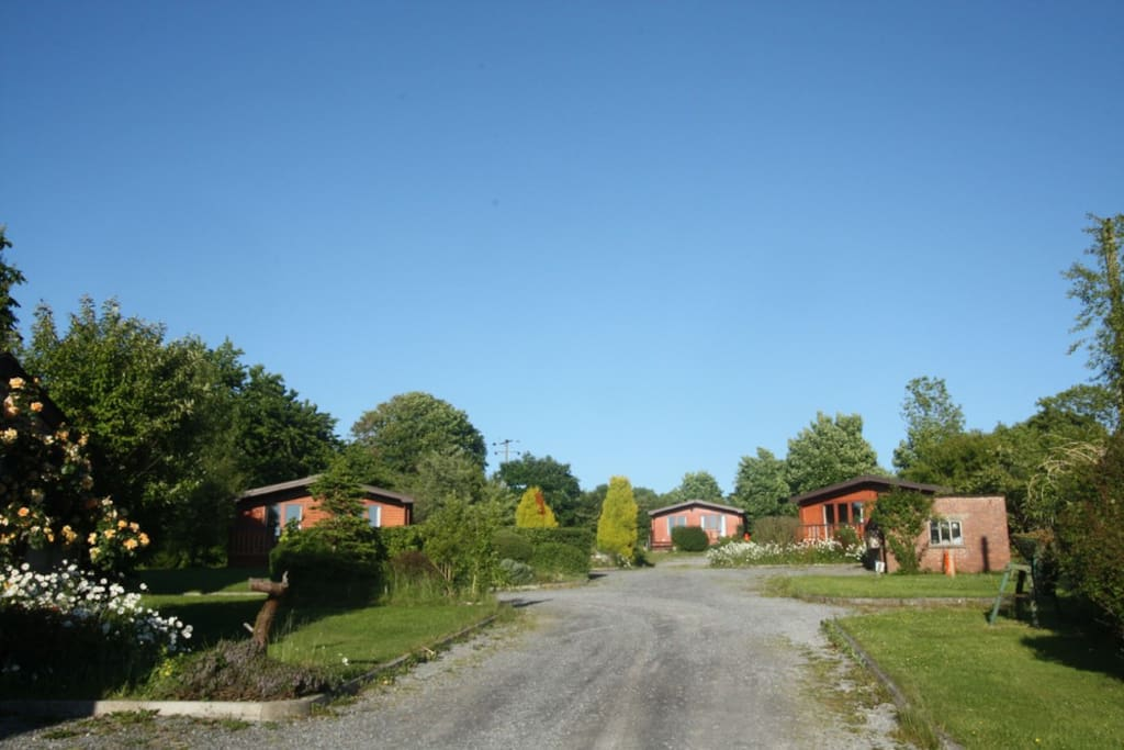 The cabins are set in a peaceful rural location, yet only a 10 minute walk to Penbryn National Trust Beach.