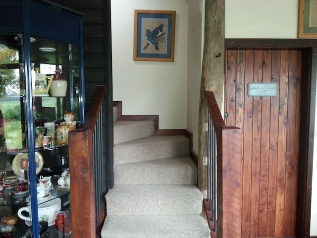 Stairs to room.
