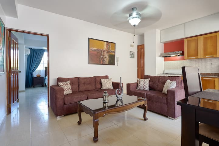 Cozy Furnished One-Bedroom Apartment in Gazcue