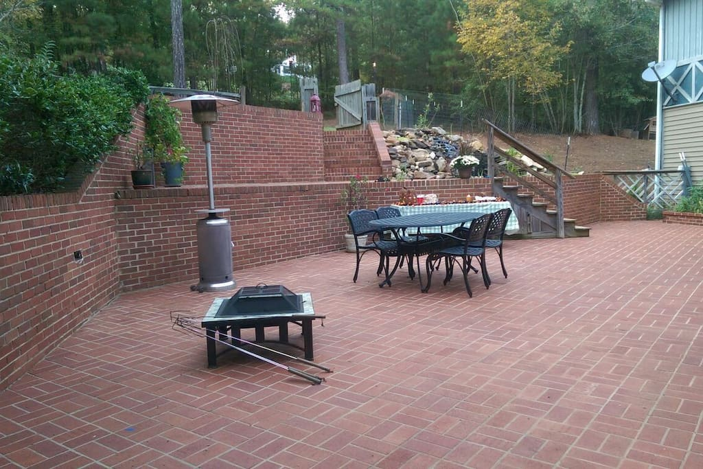 Back patio is open to guests