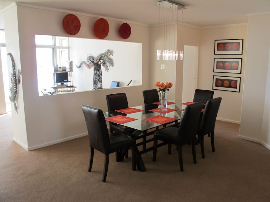 open plan - dining area