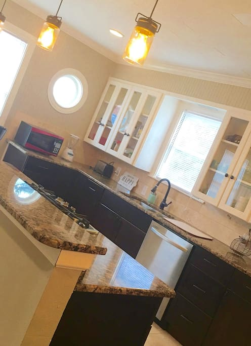 Kitchen and sink area.