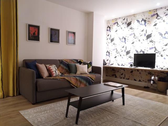 salon - avec canapé lit en 160cm.