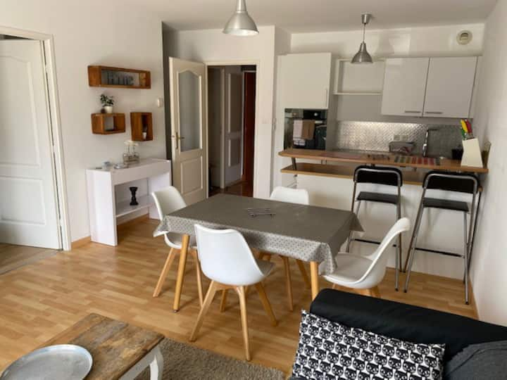 Appartement récent de 42 m2 à 2 min de la plage