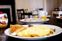 Our famous western omelets are truly mouth-watering.