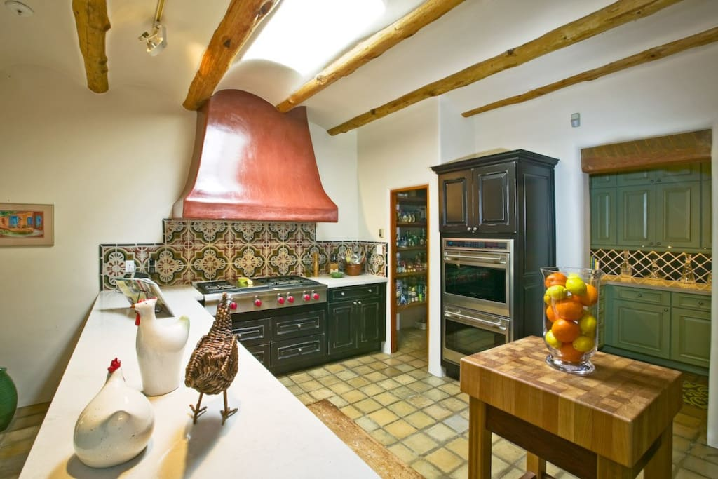 A cooks' kitchen with all the modern conveniences to prepare memorable culinary events with family and friends.