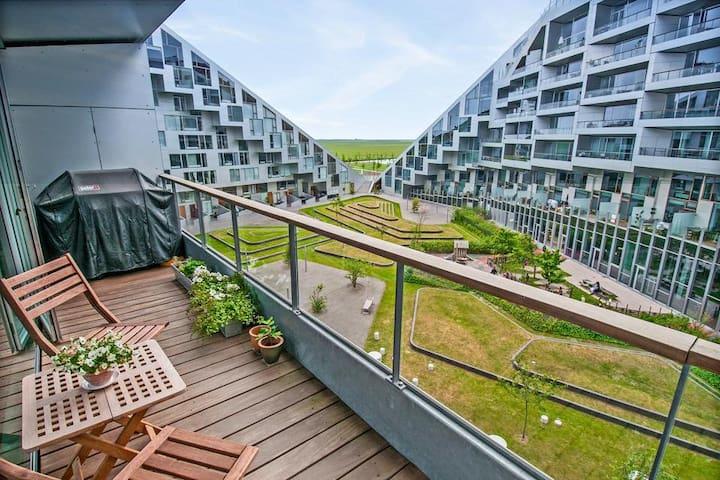 Dejlig lejlighed i ottetallet m. ro og smuk udsigt