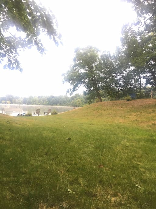Acres of land nestled in a hardwood forest with the stream, Vernal pond and lake!