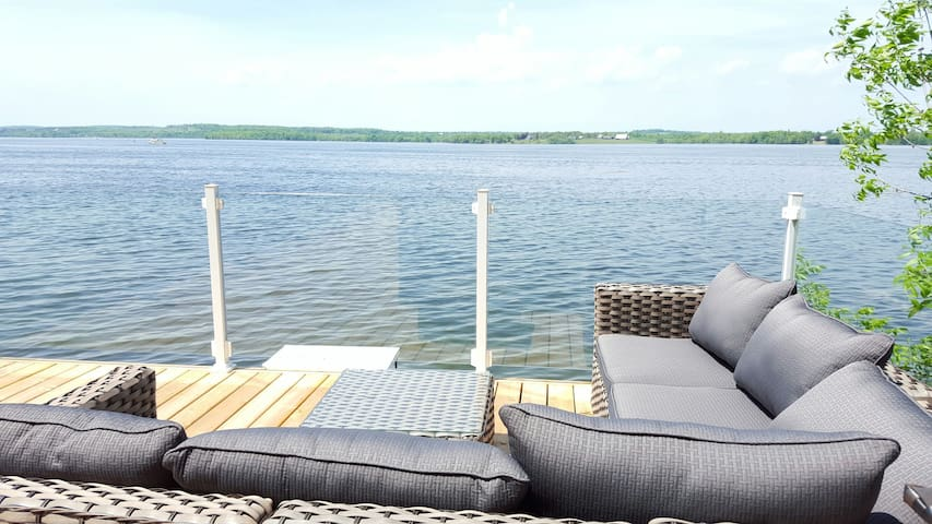 Cottage/boathouse deck fully renovated on HGTV!