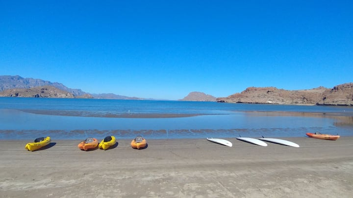 ☀️Ocean Front Relaxing  Oasis in Sunny Loreto☀️