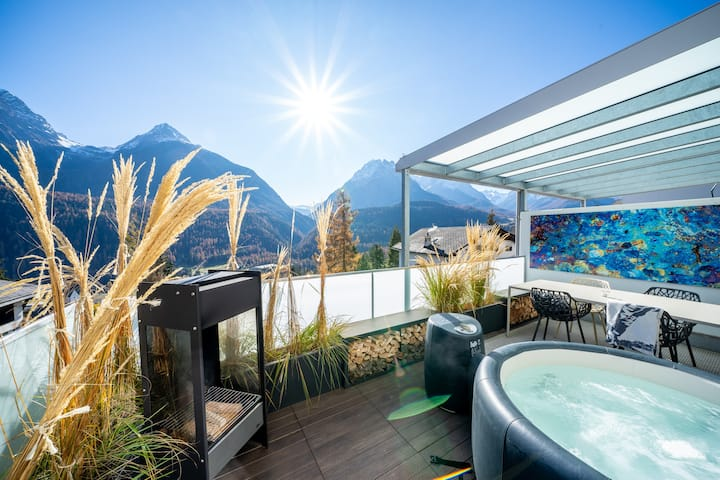 Exklusive Terrassenwohnung mit Jacuzzi & Panorama