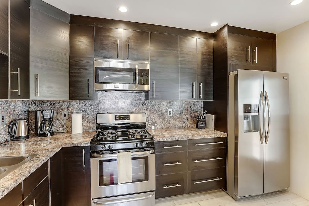 100% new kitchen with all stainless appliances
