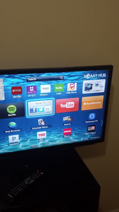 Smart TV with paid Hulu subscription