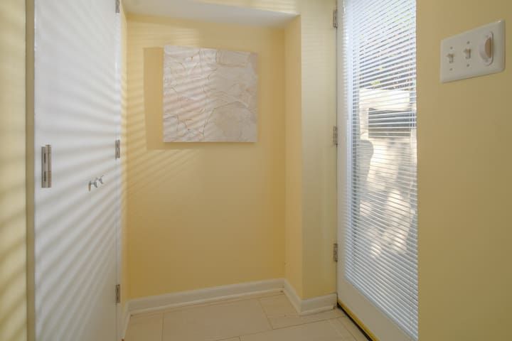 Enter the apartment to find a large closet and plenty of natural light.