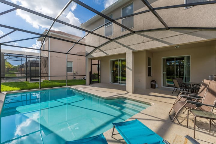 6 Bedroom 5 Bathroom Paradise Palms 8956sp Houses For Rent In Orlando Florida United States