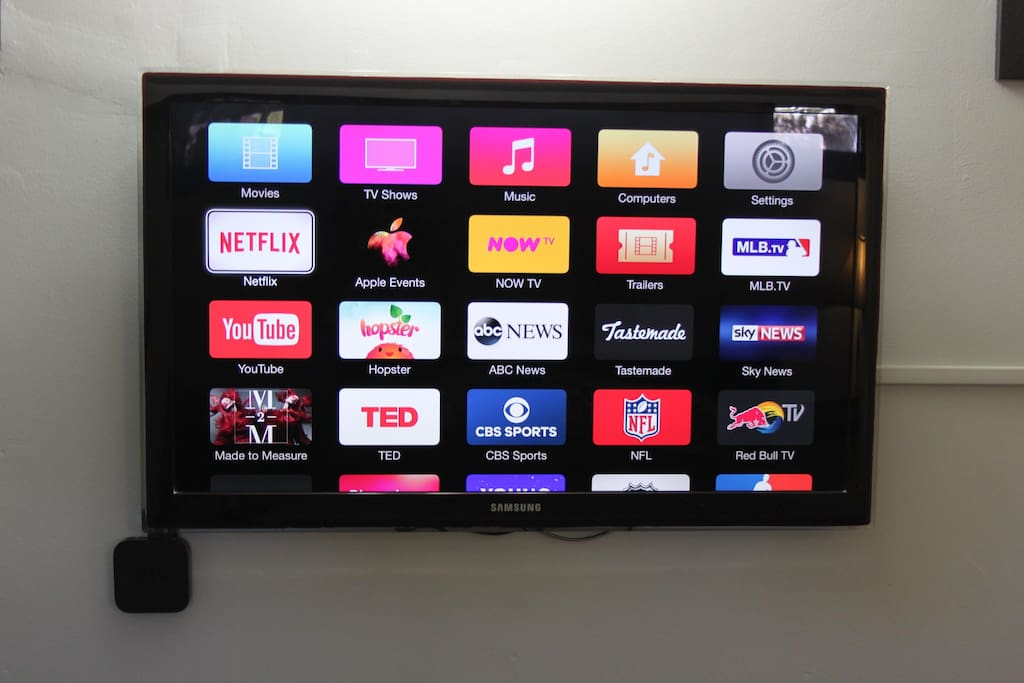 Apple TV loaded with Netflix, HBO Go, ESPN and many others