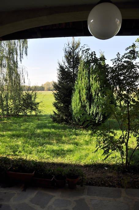 La vista dall'ingresso