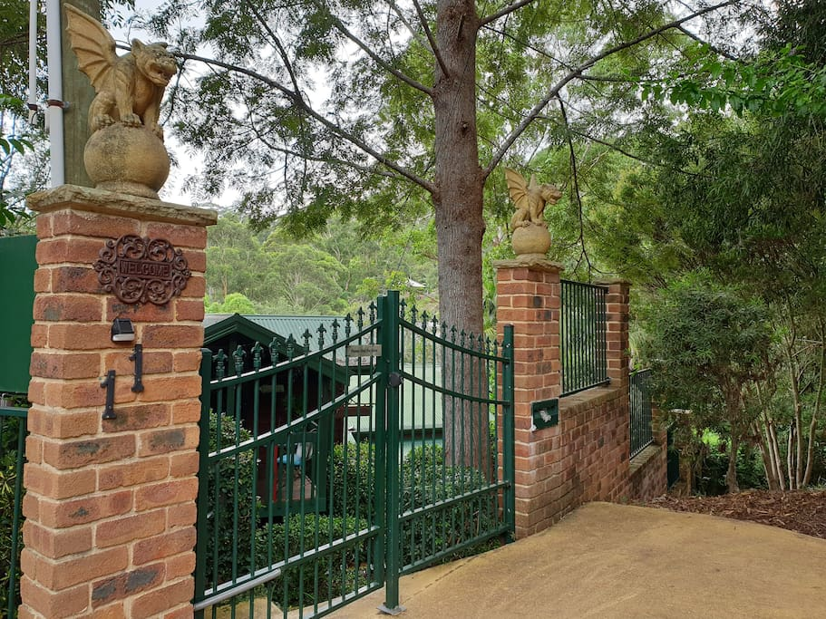 Entry front gates.