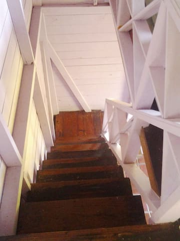 stairs in hut #1