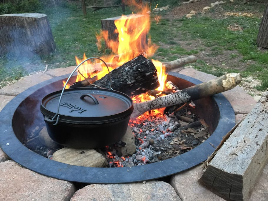 Firepit for cooking dinner and breakfast