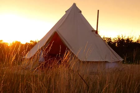 Manor Farm Stay Glamping - Oak Bell Tent