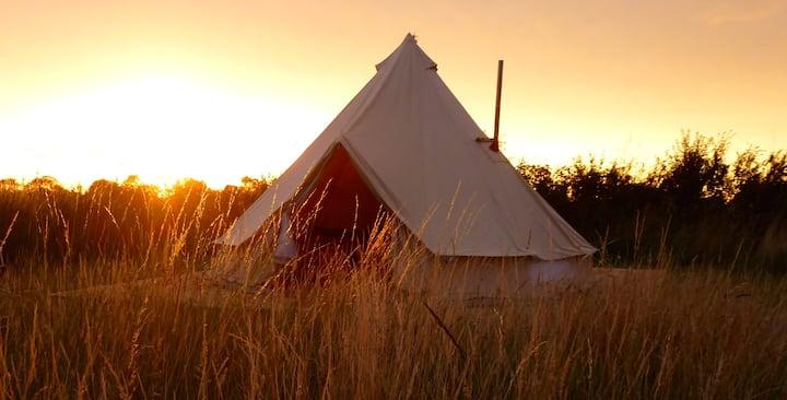 Manor Farm Stay Glamping - Oak Bell Tent