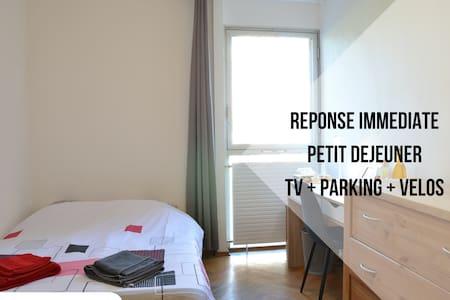 TV room + desk + park + breakfast + bikes + wifi - Thonon-les-Bains