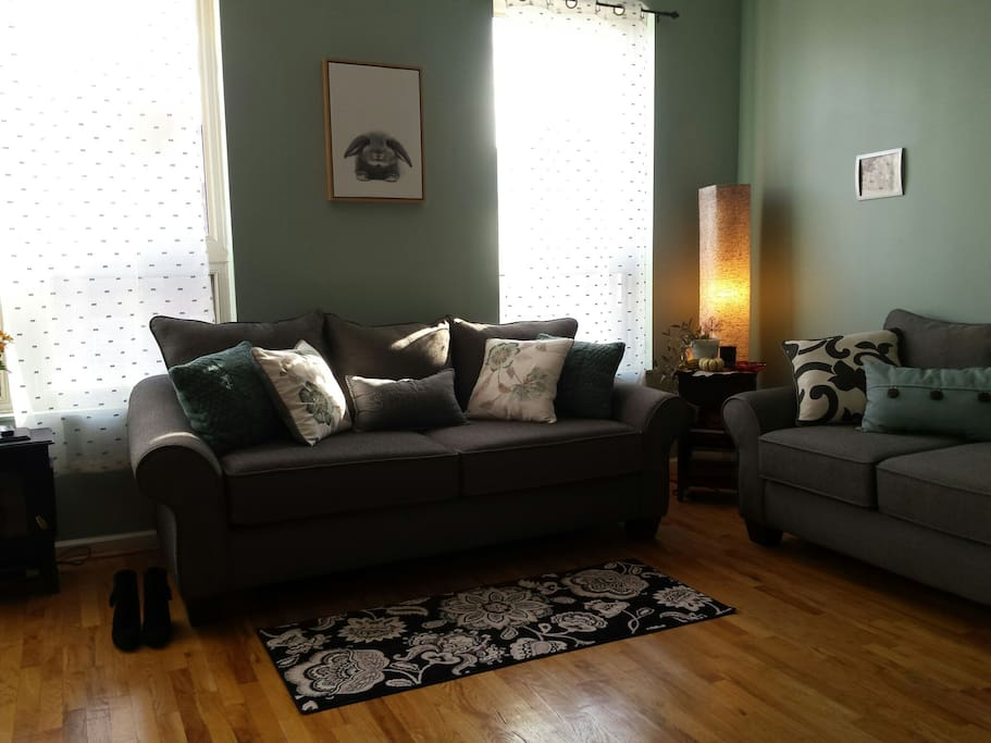 Large, sunny living room!