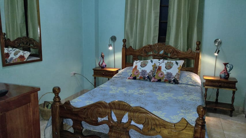 First Room features precious wood furniture