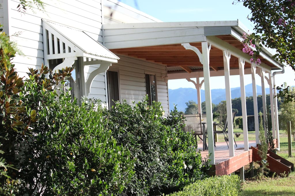 Enjoy sitting on the wide verandas overlooking the farm