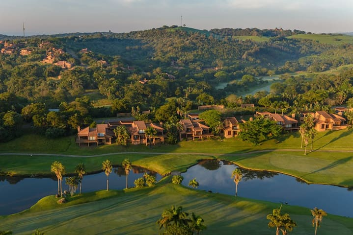 A birds view of the estate and golf coarse