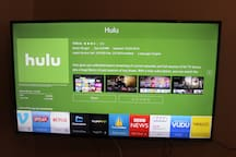 "Guests enjoy 48"" Smart UHD TV connected to internet to stream their favorite content from Netflix, Hulu, Amazon etc. and over 30 cable and local channels."