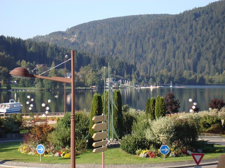 Vue lac logement 2 personnes -  100 m centre ville