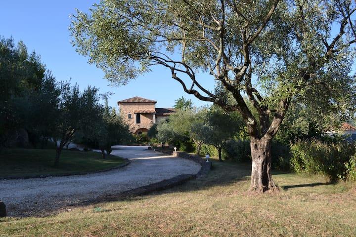 Grande maison provençale avec piscine privée - Les Vans - Huis