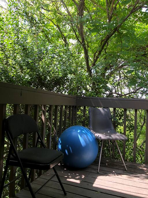 Outside porch, perfect for morning coffee/yoga