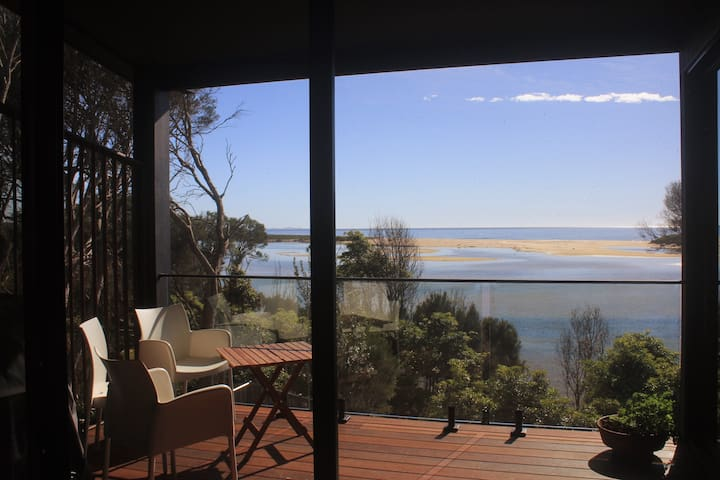 Absolute lake frontage and panoramic ocean views