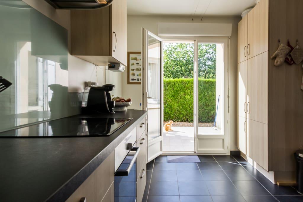 Cuisine côté terrasse