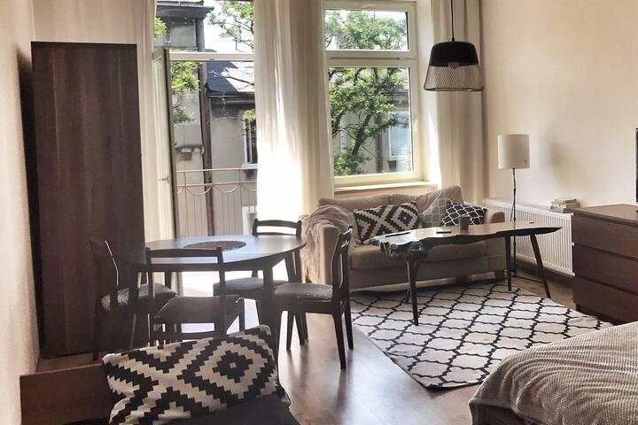 Słoneczny apartament,świetna lokalizacja i parking