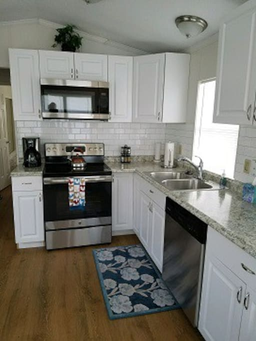 All new stainless steel appliances