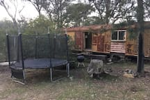 An old train guard's van.  Not a bad place to throw a sleeping bag, in case you haven't brought your tent. Or ute, swag or camper.