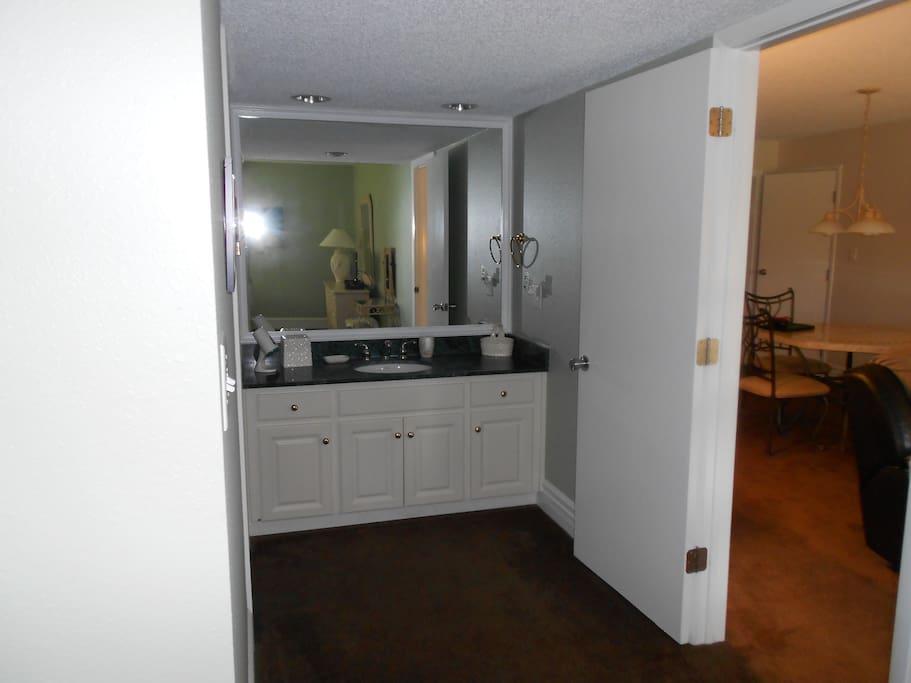 Vanity Area Bedroom 1