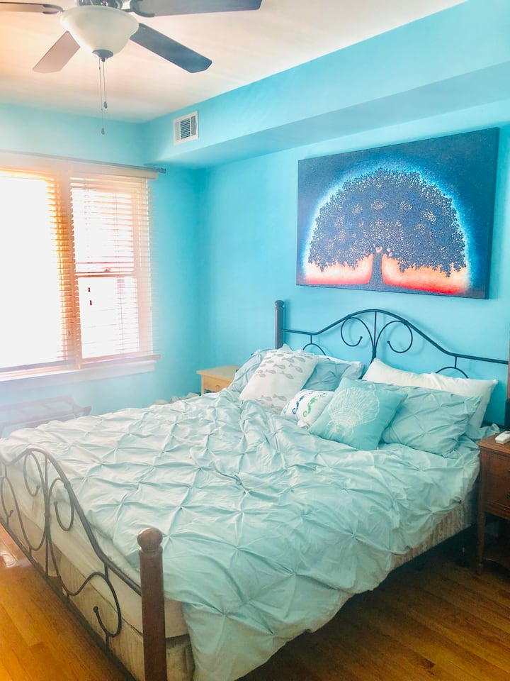 Cozy Unit Right by Downtown & Blue Line Train Stop