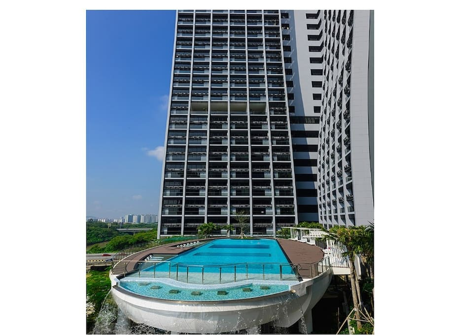 Front view Swimming pool