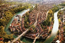 Bern Lower Old Town from above
