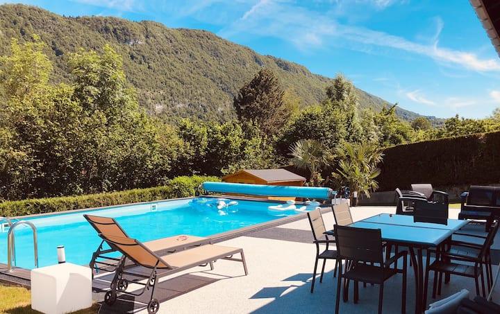 Villa moderne piscine spa sauna 7mn lac & 5 centre