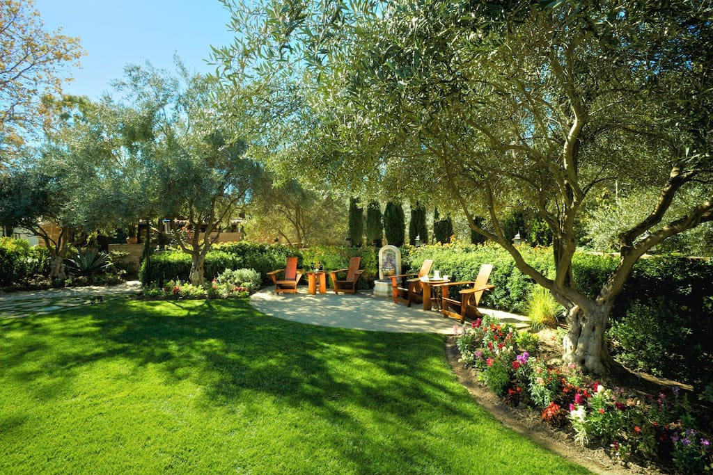 Enjoy the lush gardens